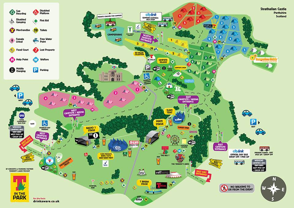 T In The Park Map T in the Park reveals site map for the new site