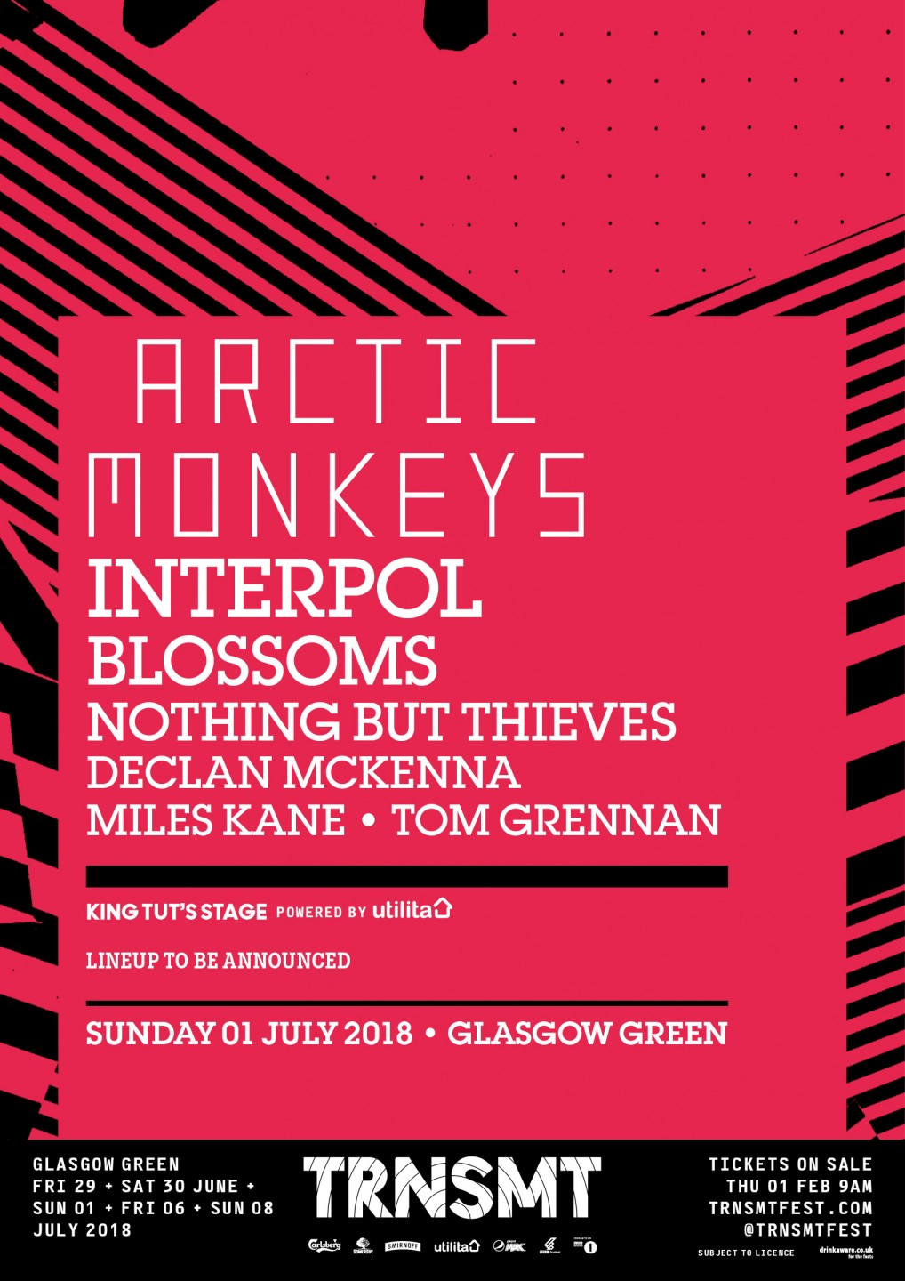 TRNSMT reveal new acts including Arctic Monkeys as headliners